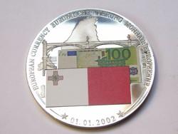 Európai valuta emlékérme 2002.01,01