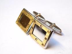 Luxus ródiumozott,aranyozott ezüst mandzsetta.
