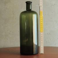 """Nagyméretű, zöld, hengeres """"1000"""" ml-es tárolóüveg"""
