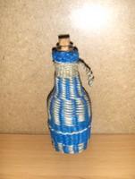 Fonott kicsi üveg 12 cm magas (j-5)