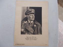 WW2.Hermann Göring,ritká kép, 30 x 22 cm
