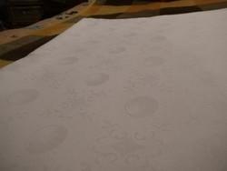 1415. Barokk mintás damaszt ágynemű takaró huzat - gömb mintákkal