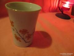 Virág mintás porcelán bögre vagy váza  Á011
