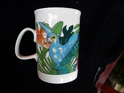 Retró papagájos csésze