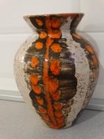Retro kerámia váza DM jelzéssel, ajándékkal