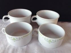 4 db alföldi porcelán csésze