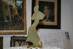 Pompázatos Bohemia Crystal sárga színű szobor