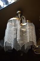 Csavart üvegfüggős nikkelezett csillár
