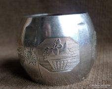 1838-as francia ezüst szalvétagyűrű