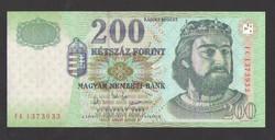 "200 forint 2003. ""FC""  UNC !  RITKA!"