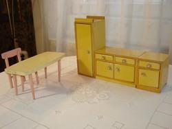Retro fa játék babakonyha bútor (az 1950-es évekből)