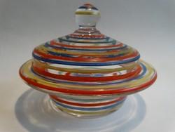 Art deco üveg bonbonier, cukortartó