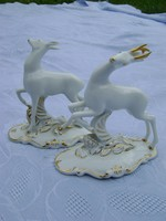 Royal Dux finom porcelán extra ritka párban hibátlanok