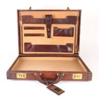 0P534 Valódi bőr Principe olasz diplomata táska ... 520f181f25