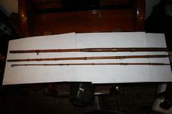 Antik 3 részes bambusz horgászbot