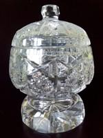 Ólom kristály bonbonier cukortartó kínáló nagyobb méret