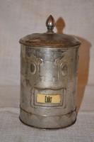 Szecessziós fém cukortartó  ( DBZ 0098 )
