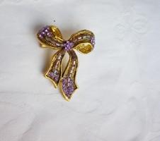 Retró lila köves masni bross