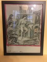Nőil akt  műteremben