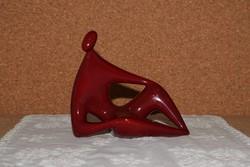 Zsolnay art deco ökörvérmázas figura.