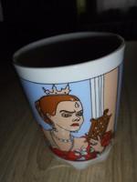 Zsolnay porcelán mese csésze a gonosz mostohával