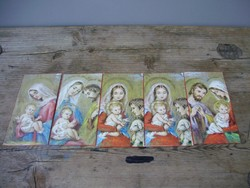 Régi aranyozott karácsonyi témájú szentképek