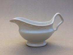 Régi fehér porcelán szószos kínáló mártásos tál kiöntő