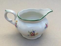 Régi porcelán tejkiöntő Eichwald virágos kiöntő