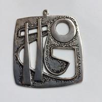 Ezüst medál a hatvanas évekből jelzés nélkül is szép.