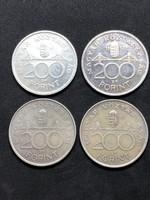MNB 200 forint 2-2 db 1992 - 1993, ingyenes szállítás (Mo.)