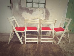 4 db menő retro szék + asztal ( sorolható )