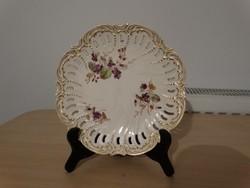 Hibátlan újszerű állapotú 6 darab Sarrguemines desszertes tányér 1875-ből !