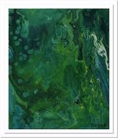 Tengeri moszatok (modern akril festmény)