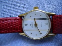 GUB Glashütte gold filled női luxus óra, mutatós igényes darab