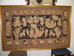 Burmai falikép, kalaga 220x140 cm/ áresés-csere