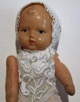 Régi retro  kisméretű baba