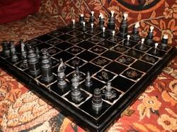 Gyöngyházberakásos sakk készlet