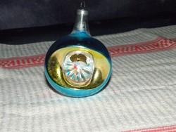 Retro üveg karácsonyfadísz gömb