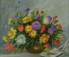 0P264 Várhegyi jelzéssel : Asztali virágcsendélet