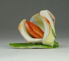0P290 Régi Aquincum porcelán rózsa
