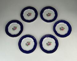 0P315 Kisméretű Zsolnay porcelán dísztányér 6 db
