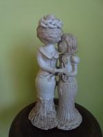 Illés lászló Hatalmas két alakos (anya-lánya) kerámia figura