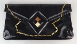 0P620 Fekete Coret kanadai lakk női retikül táska