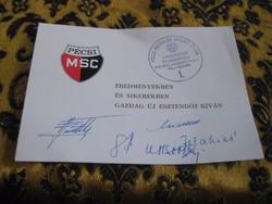 Pécsi PMSC  emlék lap