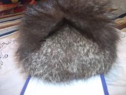 Csodaszép extra orosz unisex ezüst róka szőrme sapka kucsma  57 58 fej eladó