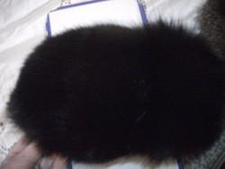 Csodaszép orosz fekete róka szőrme sapka kucsma eladó unisex 56 fej