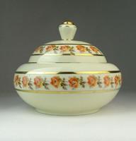 0P355 Régi Drasche porcelán bonbonier ékszertartó