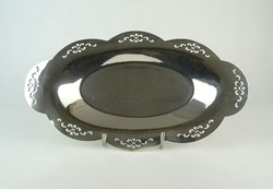 0P400 Jelzett ezüstözött réz kínáló tálca