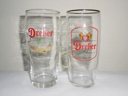 Dreher sörös pohár korsó - 1970-es évekből - 2 db