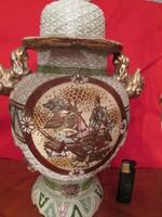 Japán, fedeles, szamuráj mintás váza
